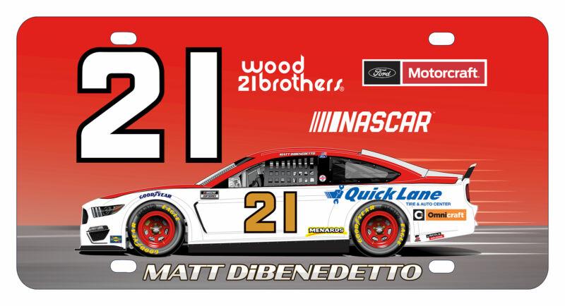 Matt DiBenedetto NASCAR #21 Metal License Plate