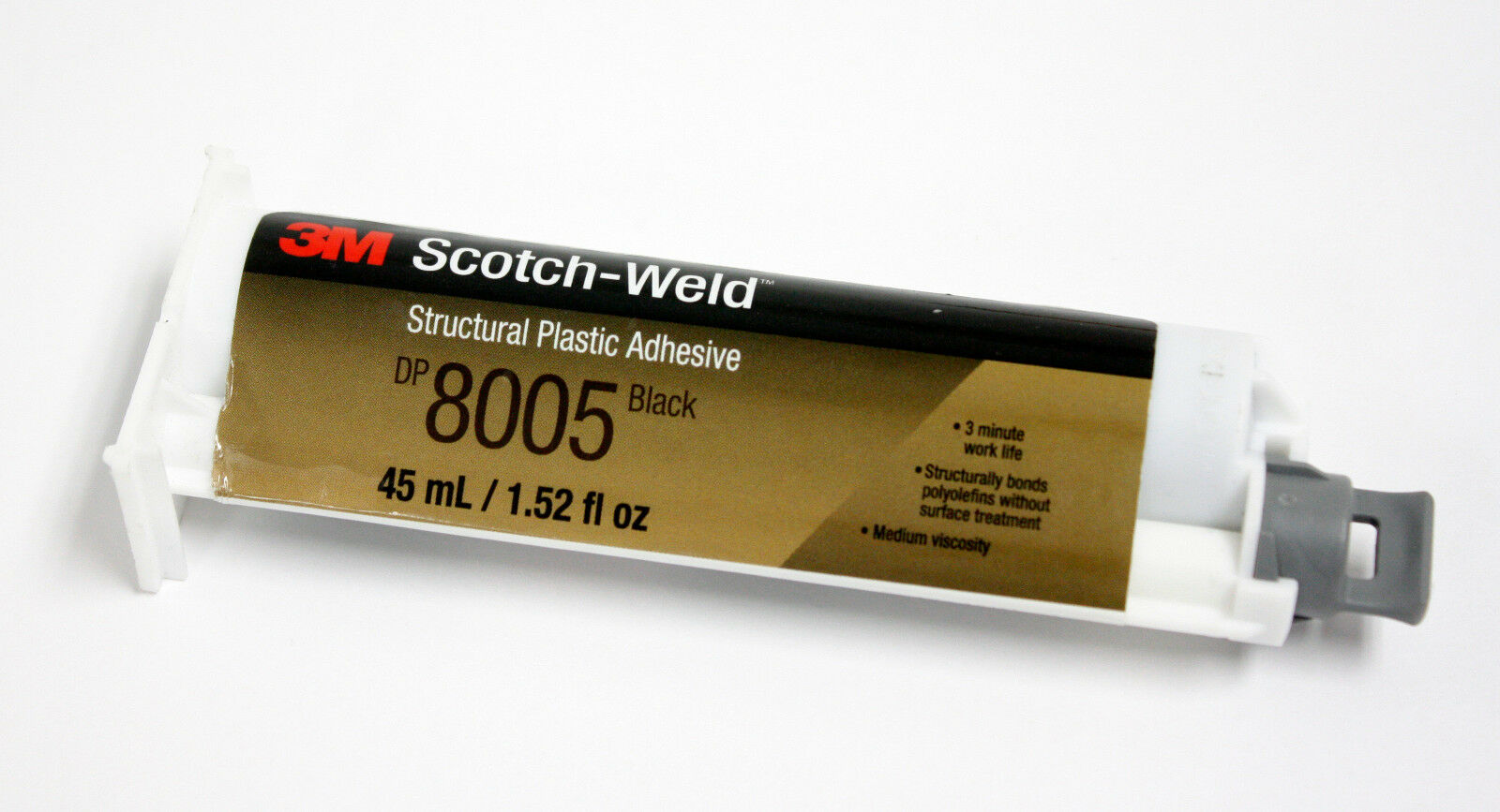 3M 92166  Scotch-Weld DP8005 Structural Plastic Adhesive, 45mL Cartridge, Black