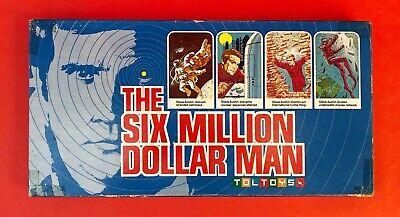 Vintage 1975 Toltoys The Six Million Dollar Man Board Game Steve Austin