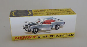 Repro Box Dinky Nr.1405 Opel Rekord Coupe