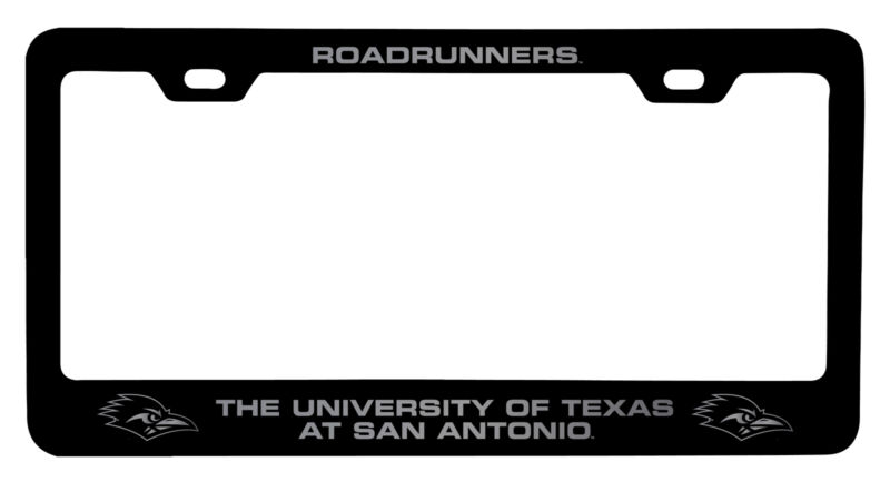 UTSA Road Runners Laser Engraved Metal License Plate Frame Black
