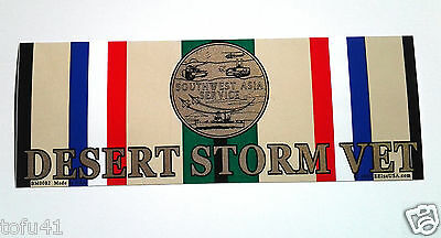 DESERT STORM VET  Military Veteran Bumper Sticker BM0082 EE