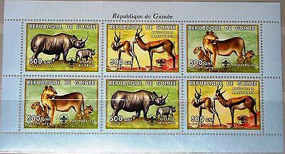 GUINEA 1999 KLB 2474 76 S UGETIERE TIERE ANIMALS FAUNA L WE LEOPARD SPRINGBOCK