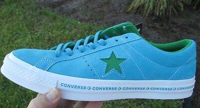 Converse ONE STAR OX  SUEDE HAWAIIAN OCEAN BLUE / GREEN 159813C  SIZE 11 MEN'S Converse One Star Suede
