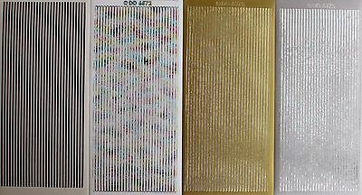 Borders Peel Off Stickers - Straight Lines Borders PEEL OFF STICKERS 4 Colours Cardmaking