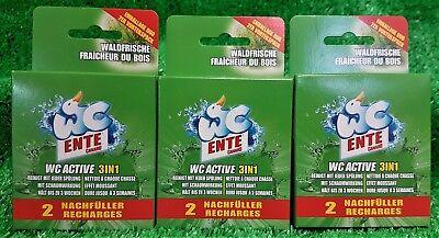 (3,13€/100g) 3x2 Nachfüller WC ENTE ACTIVE 3in1 WALDFRISCHE gratis Versand!!!