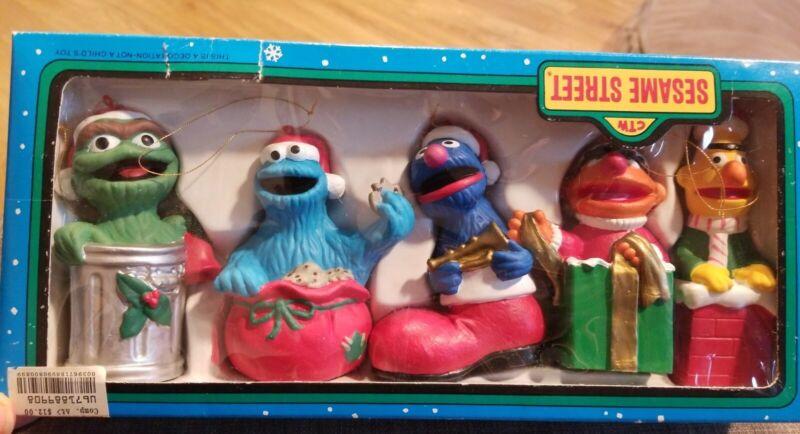 Vintage Sesame Street Kurt S Adler Christmas Ornament set of 5