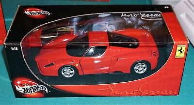 Enzo Ferrari Red Hot Wheels 1/18 Diecast New In Box.