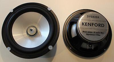 "Kenford DYG-820A 20cm 8"" Bass mit Dom Lautsprecher 200mm Tieftöner weiss #1010"