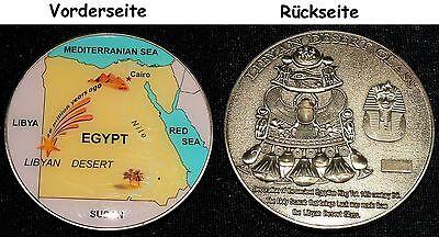 Medaille lybisches Wüstenglas, Impaktit, 50x5mm 55,2g Heilstein