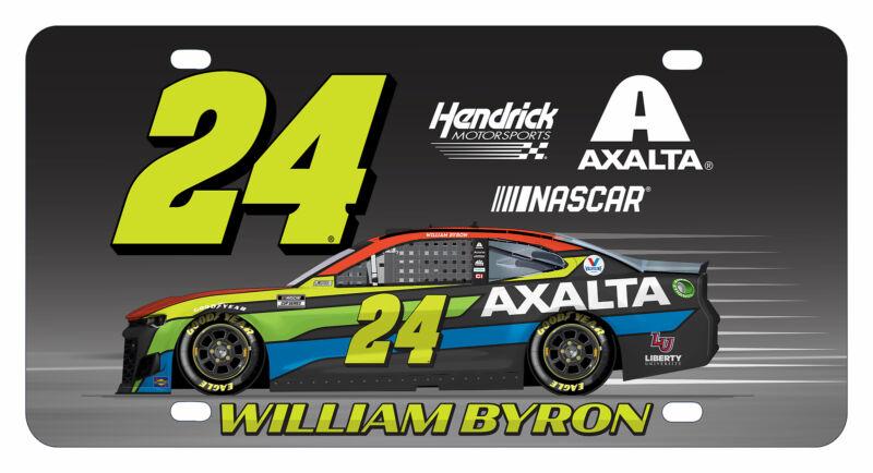 William Byron NASCAR #24 Metal License Plate