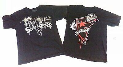 Stars and Straps mens T-shirts 2 shirt lot nice FREE SHIPPING
