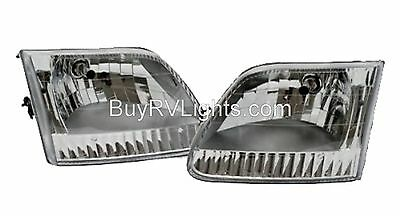 MONACO KNIGHT 2006 2007 HEADLIGHTS HEAD LIGHTS FRONT LAMPS RV MOTORHOME PAIR SET