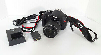 Canon T5 18.0MP w/18-55 IS II Lens- GOOD COND- SUPER LOW SHUTTER COUNT- 1,082
