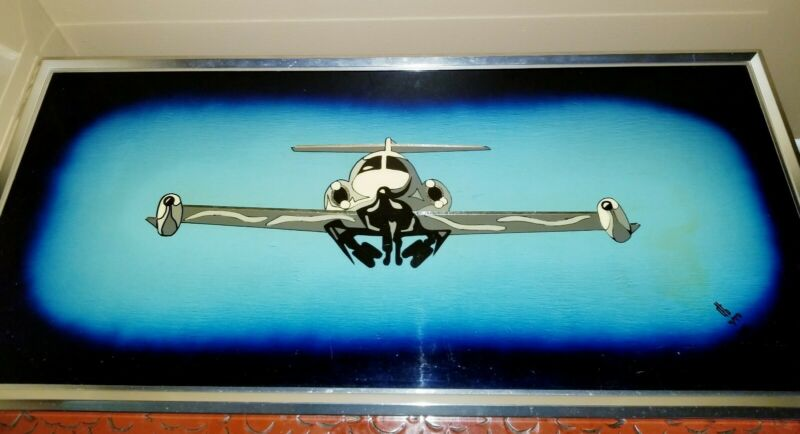 Painting Aviation Art Military Air Force Signed numbered original Framed Large