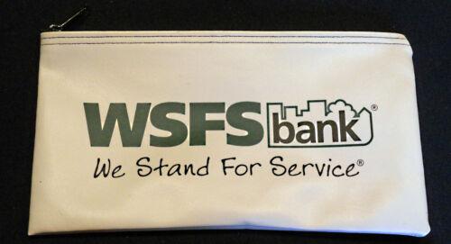 Vintage WSFS Deposit Bag Bank Pouch Zippered Safe Money Organizer