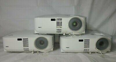 Lot of (3)- NEC (VT580,VT590,VT595) LCD Projectors