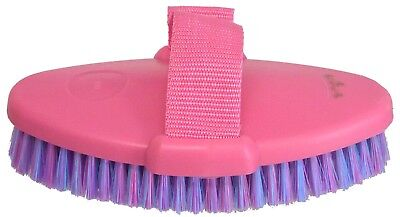 Grooming Body  Brush Horse Dog Cow Cat ~ With Strap ~ SET OF 6 ~ In Pink ()