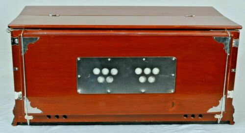 Handmade Portable 3.25 Octave 7 Stopper Laying Style Harmonium Baja With Coupler