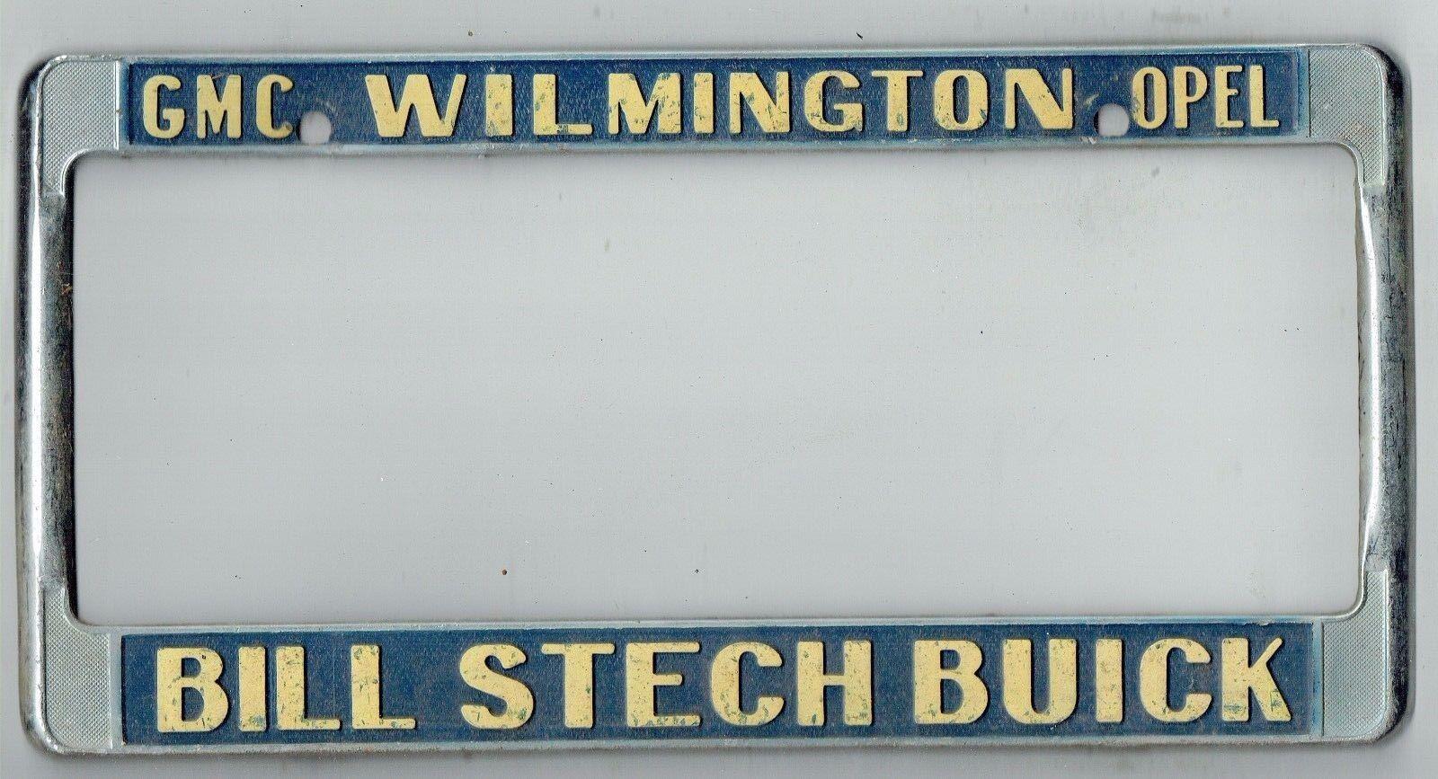 RARE Wilmington California Bill Stech Buick GMC Opel Vintage License ...