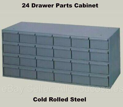 Steel Bins 24 Drawer Cabinet Parts Fittings Nut Bolt Storage Garage Shop Van