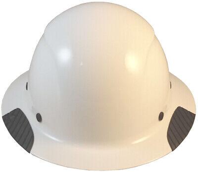 Lift Dax Composite Fiberglass White Full Brim Hard Hat Ratchet Susp