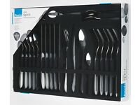 CHEAPEST PRICE Brand New Amefa 'Eclat Spirit 24 Piece Stainless Steel Cutlery Set in Shades of Grey