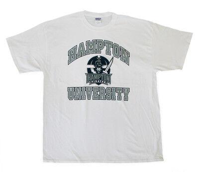 (Hampton University Arched Logo T-Shirt HU Pirates New Cool Nice Quality T-Shirt)