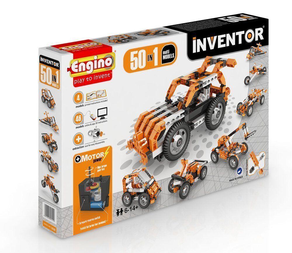 Costruzioni 3D Inventor 50 1 Plastica con Motore Dal Negro Engino Anni +6