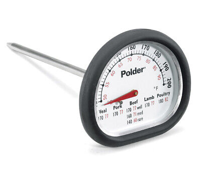 Polder E454 Meat Thermometer, Stainless Steel