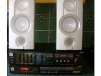VINTAGE HI FI SEPERATES - Fisher amp - Fisher tuner - Sharp Speakers