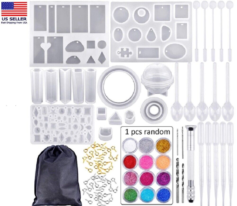 83PCS Resin Casting Silicone Molds Epoxy Spoon Kit Jewelry Making Pendant Craft Crafting Pieces