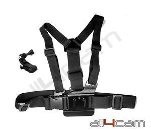 Pecho-Soporte-Busto-Arnes-SJCAM-Xiaomi-yi-con-J-Hook-Correa-Ajustable-Cinturon