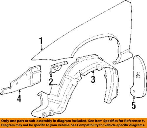 Front Fender Driver Side Fits Pontiac Grand Prix 12528521 GM1240256
