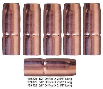 5 Mig Welding Nozzles 169-725 58 Recessed Fit Miller M25m40 Hobart Gun