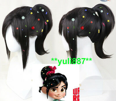 Wreck It Ralph Halloween (Wreck-It Ralph 2 Vanellope von Schweetz Halloween Party Cosplay Wig  (No)