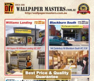 Wallpaper 365 days displayed in Dandenong Rd Oakleigh East VIC