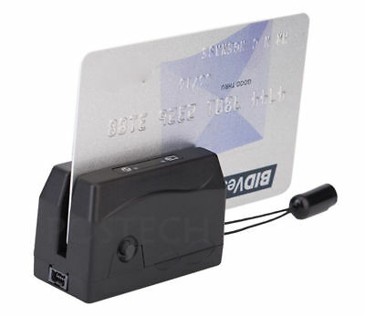 Usb Magnetic Stripe Card Reader 3 Tracks Smallest Portable Mini300 Datacollector