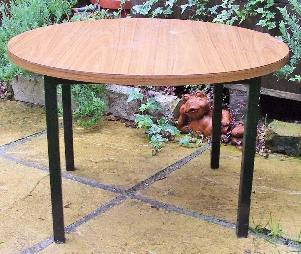 Table. Remploy. Plant. Lamp. Coffee Table. Metal Base