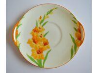 Vintage Royal Doulton Cake Plate - 'Gladiolus'