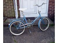 "Hercules (By Raleigh) Folding bike, 20"" Wheels, 3 Speed Sturmey Archer Gears, Serviced."