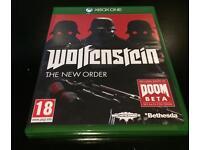 Xbox one games. Wolfenstein and watchdogs
