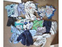 Huge Summer boy bundle 9-12 months vests, sleepsuits, trousers, tops, jumpers