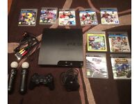PS3 Console, Controllers and 9 Games