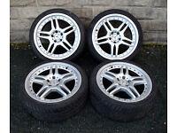 "19"" Alloy wheels tyres 5x112 Mercedes SL500 SL350 CLS W202 C E Class W211 W210"
