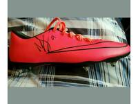 Nolito signed football boot plus photo proof