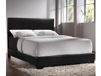 BRAND NEW FURNITURE-DOUBLE AND KING SIZE LEATHER BED FRAME w OPT MATTRESS-CALL NOW