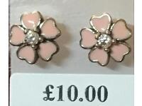 Pink primrose sterling silver earrings - New
