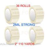 "36 Rolls Carton Sealing Clear Packing 2 Mil Shipping Box Tape 2"" x 110 Yards"
