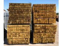 🦋 Pressure Treated Wooden/ Timber Posts ~ New ~ 100 x 100 x 2.4M